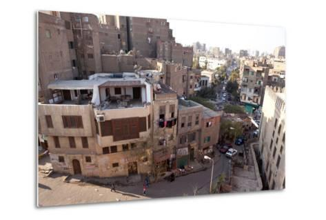 Egypt, Cairo, View from Mosque of Ibn Tulun on Old Town-Catharina Lux-Metal Print