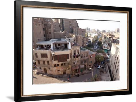 Egypt, Cairo, View from Mosque of Ibn Tulun on Old Town-Catharina Lux-Framed Art Print