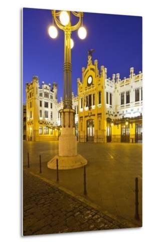 Spain, Valencia, Railway Station, Lantern-Rainer Mirau-Metal Print