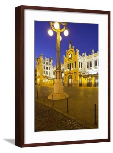 Spain, Valencia, Railway Station, Lantern-Rainer Mirau-Framed Art Print