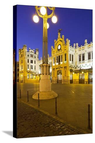 Spain, Valencia, Railway Station, Lantern-Rainer Mirau-Stretched Canvas Print
