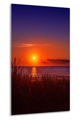 Netherlands, Holland, Beach on the West Frisian Island of Texel, North Holland, Sunset-Beate Margraf-Metal Print