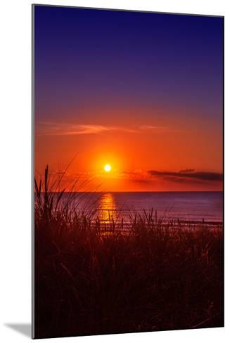 Netherlands, Holland, Beach on the West Frisian Island of Texel, North Holland, Sunset-Beate Margraf-Mounted Photographic Print