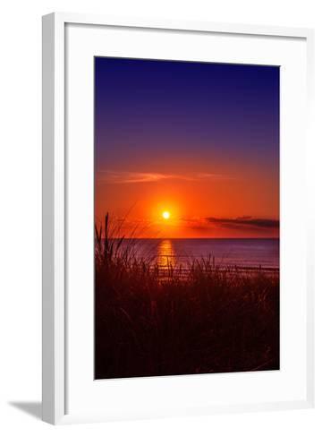 Netherlands, Holland, Beach on the West Frisian Island of Texel, North Holland, Sunset-Beate Margraf-Framed Art Print