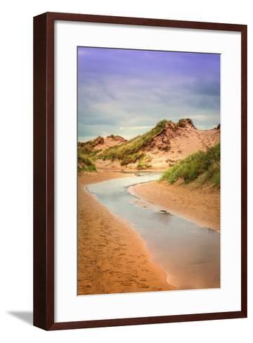 Netherlands, Holland, on the West Frisian Island of Texel, North Holland, Inlet, De Slufter-Beate Margraf-Framed Art Print