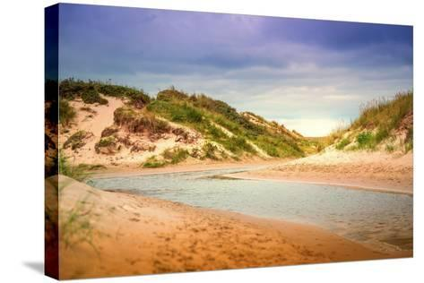 Netherlands, Holland, on the West Frisian Island of Texel, North Holland, Inlet, De Slufter-Beate Margraf-Stretched Canvas Print