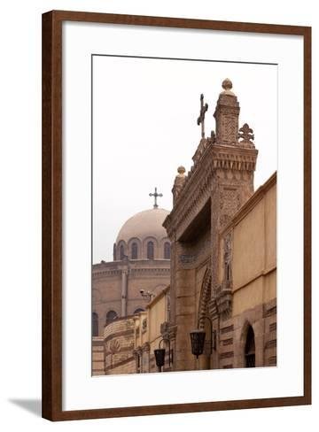 Egypt, Cairo, Coptic Old Town, Church El Muallaqa, the Hanging Church-Catharina Lux-Framed Art Print