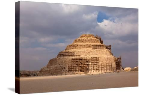 Egypt, Cairo, Saqqara, Step Pyramid of Djoser, the Oldest Stone Structure of the World-Catharina Lux-Stretched Canvas Print