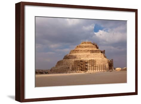 Egypt, Cairo, Saqqara, Step Pyramid of Djoser, the Oldest Stone Structure of the World-Catharina Lux-Framed Art Print
