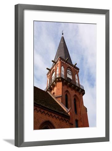 Baltic Sea Spa Wustrow, Village Church-Catharina Lux-Framed Art Print