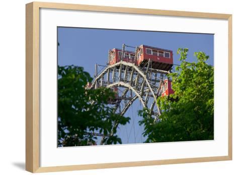 Viennese Ferris Wheel, Prater, 2nd District, Leopoldstadt, Vienna, Austria-Rainer Mirau-Framed Art Print
