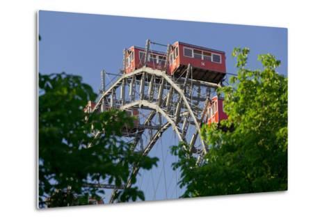 Viennese Ferris Wheel, Prater, 2nd District, Leopoldstadt, Vienna, Austria-Rainer Mirau-Metal Print