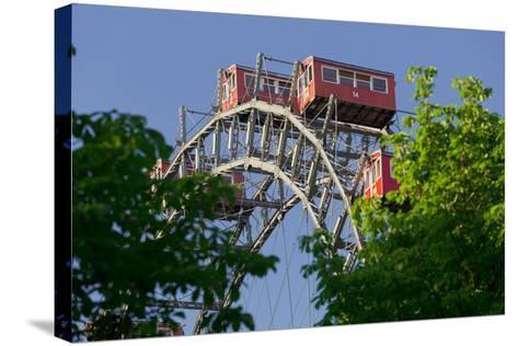 Viennese Ferris Wheel, Prater, 2nd District, Leopoldstadt, Vienna, Austria-Rainer Mirau-Stretched Canvas Print