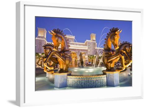 United Arab Emirates, Dubai, Al Qasr, Madinat Jumeirah Hotel, Well-Rainer Mirau-Framed Art Print