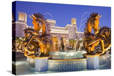 United Arab Emirates, Dubai, Al Qasr, Madinat Jumeirah Hotel, Well-Rainer Mirau-Stretched Canvas Print