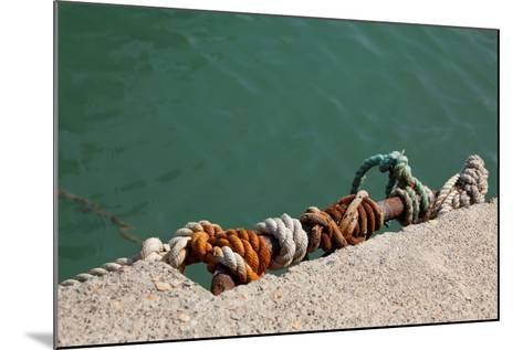 Greece, Crete, Sitia, Harbour, Landing Stage, Ropes-Catharina Lux-Mounted Photographic Print