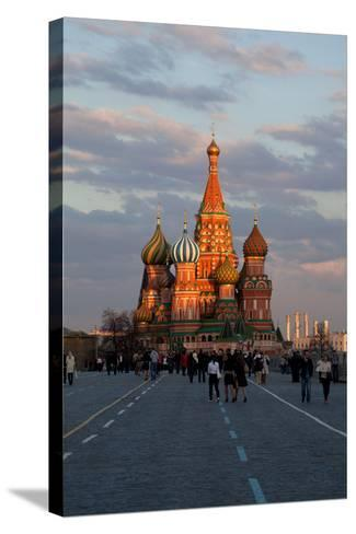 Moscow, Red Square, Saint Basil's Cathedral-Catharina Lux-Stretched Canvas Print