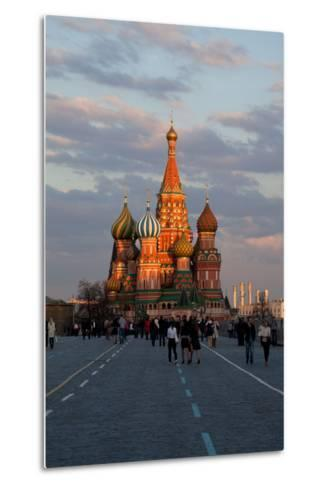 Moscow, Red Square, Saint Basil's Cathedral-Catharina Lux-Metal Print