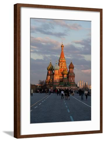 Moscow, Red Square, Saint Basil's Cathedral-Catharina Lux-Framed Art Print