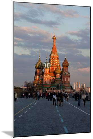 Moscow, Red Square, Saint Basil's Cathedral-Catharina Lux-Mounted Photographic Print