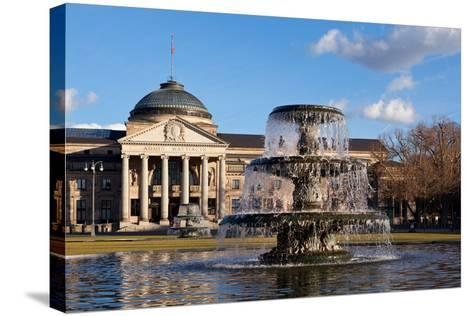Germany, Wiesbaden, Health Resort House, Well-Catharina Lux-Stretched Canvas Print