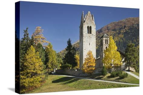 Switzerland, GraubŸnden (Canton), the Engadine, San Gian, Church, Ruin-Rainer Mirau-Stretched Canvas Print