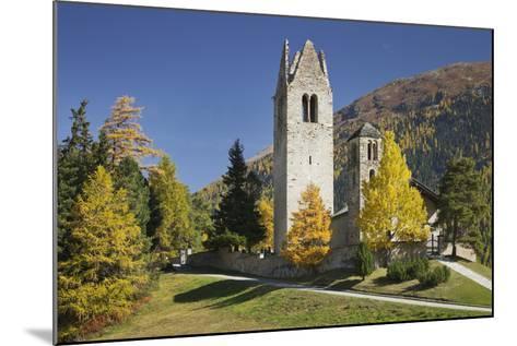 Switzerland, GraubŸnden (Canton), the Engadine, San Gian, Church, Ruin-Rainer Mirau-Mounted Photographic Print
