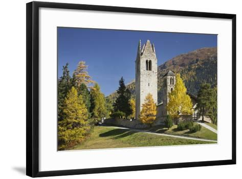 Switzerland, GraubŸnden (Canton), the Engadine, San Gian, Church, Ruin-Rainer Mirau-Framed Art Print