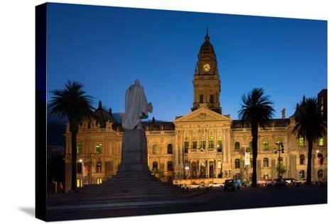 Cape Town, Historical City Hall, in the Evening-Catharina Lux-Stretched Canvas Print