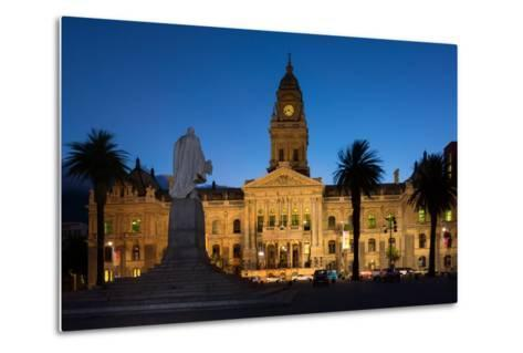 Cape Town, Historical City Hall, in the Evening-Catharina Lux-Metal Print
