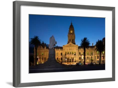 Cape Town, Historical City Hall, in the Evening-Catharina Lux-Framed Art Print