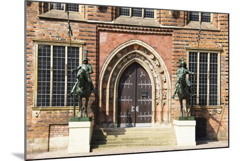 Germany, Bremen, City Hall, East Entrance, Herold Statues-Frank Lukasseck-Mounted Photographic Print