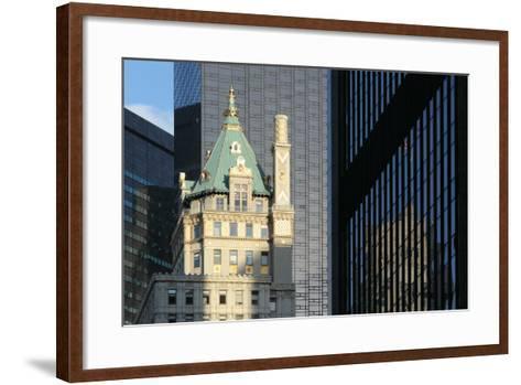 USA, New York City, Manhattan, Skyscraper, Glass Front, Reflection Plaza Hotel-Catharina Lux-Framed Art Print