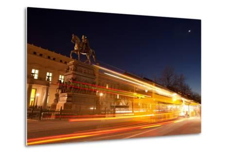 Berlin, Unter Den Linden, Monument Frederick the Great, Night Photography-Catharina Lux-Metal Print