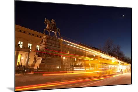 Berlin, Unter Den Linden, Monument Frederick the Great, Night Photography-Catharina Lux-Mounted Photographic Print