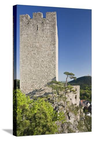 Austria, Baden Near Vienna, Helenental, Rauhenstein (Castle Ruin)-Rainer Mirau-Stretched Canvas Print