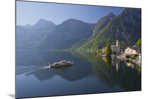 Austria, Upper Austria, Hallstatt, Ferry, Salzkammergut (Region)-Rainer Mirau-Mounted Photographic Print