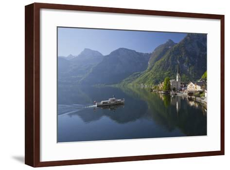 Austria, Upper Austria, Hallstatt, Ferry, Salzkammergut (Region)-Rainer Mirau-Framed Art Print
