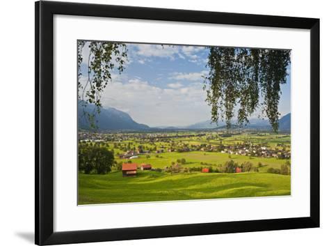 Switzerland, St. Gallen, Grabs (Valley)-Rainer Mirau-Framed Art Print