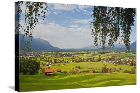 Switzerland, St. Gallen, Grabs (Valley)-Rainer Mirau-Stretched Canvas Print