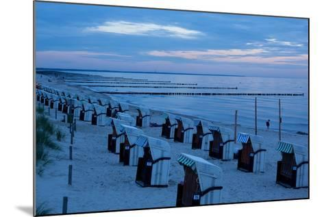 The Baltic Sea, Dar§, Wustrow, Evening Mood, Beach Chairs-Catharina Lux-Mounted Photographic Print