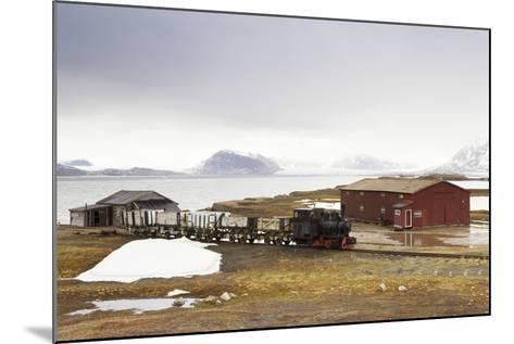 Norway, Spitsbergen, Ny Alesund, Steam Train, Old, Timber Houses-Frank Lukasseck-Mounted Photographic Print