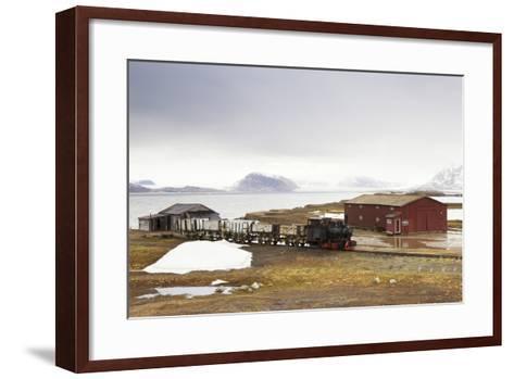 Norway, Spitsbergen, Ny Alesund, Steam Train, Old, Timber Houses-Frank Lukasseck-Framed Art Print