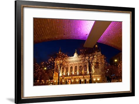 Germany, Berlin, Kudamm, Theater Des Westens, Evening-Catharina Lux-Framed Art Print