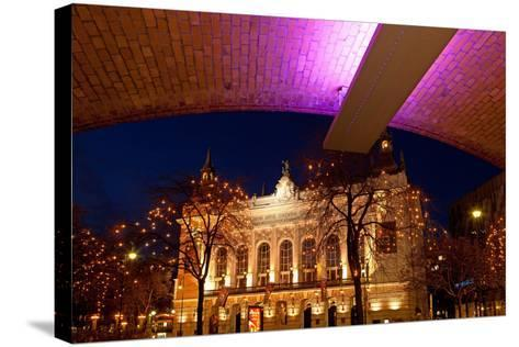 Germany, Berlin, Kudamm, Theater Des Westens, Evening-Catharina Lux-Stretched Canvas Print