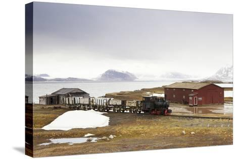 Norway, Spitsbergen, Ny Alesund, Steam Train, Old, Timber Houses-Frank Lukasseck-Stretched Canvas Print