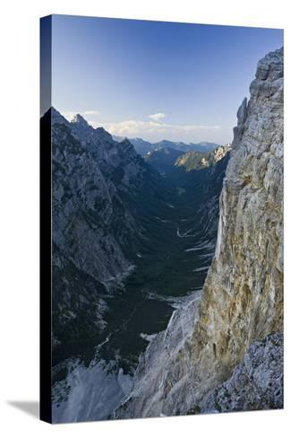Slovenia, Triglav National Park, Karst Formation and Valley in Canyon-Rainer Mirau-Stretched Canvas Print