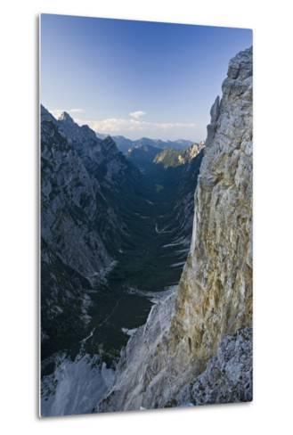 Slovenia, Triglav National Park, Karst Formation and Valley in Canyon-Rainer Mirau-Metal Print