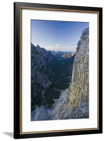 Slovenia, Triglav National Park, Karst Formation and Valley in Canyon-Rainer Mirau-Framed Art Print