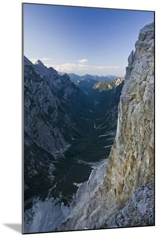 Slovenia, Triglav National Park, Karst Formation and Valley in Canyon-Rainer Mirau-Mounted Photographic Print